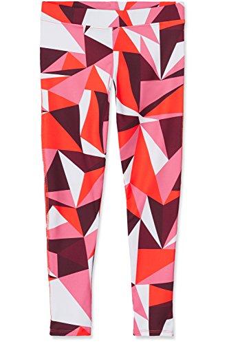 RED WAGON Mädchen Sport Leggings mit geometrischem Muster, Rot (Abstract Print Red), 128 (Herstellergröße: 8 Jahre) Sport-bekleidung Für Kinder