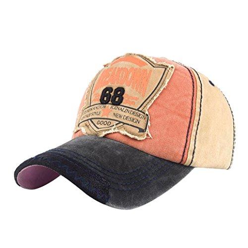 Baseballmütze Herren,Dragon868 Buchstaben Denim Baseball Cap Snapback Hip Hop Flachen Hut Unisex (Beige) (Nadelstreifen-hut Baseball)