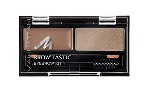 Manhattan Brow'Tastic Eyebrow Kit 1 Blondy Brow, Augenbrauen-Puder und Wachs, 2er Pack (2 x 3 g)