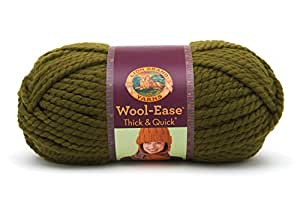 Lion Brand Yarn Company 1 pièce Wool-Ease Thick and Quick, Coriandre