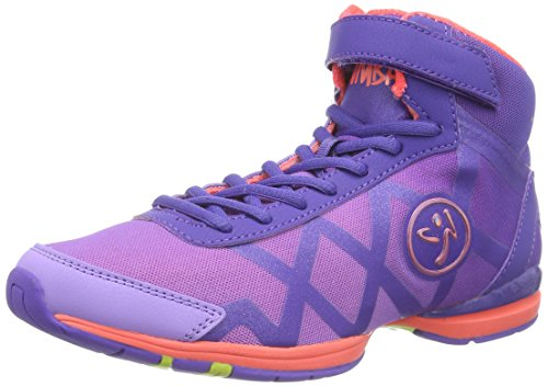 Zumba Footwear Zumba Flex II Remix High, Damen Hallenschuhe, Violett (Purple/Neon Orange), 36 EU