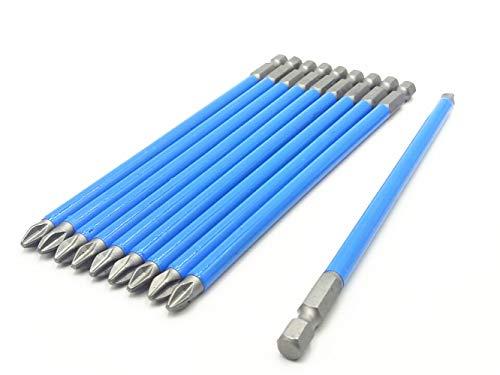 Phillips-Schraubendreher-Bits, magnetisch, Sechskantschaft, 6,5 mm, PH2, 10 Stück, PH2 X 150mm -