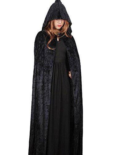 DELEY Damen Halloween Kostüm Samt Kapuze Mantel Cape Masquerade Cosplay Zubehör ()
