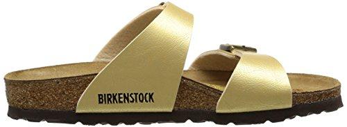 Birkenstock Sydney Birko Flor Graceful Damen Clogs Gold (Gold)