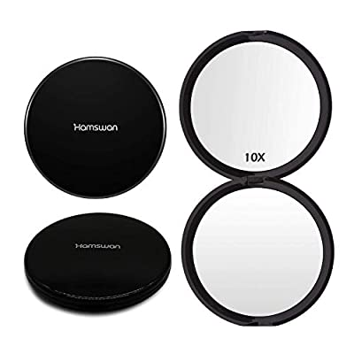 HAMSWAN Taschenspiegel Kompakter Make-up-Spiegel