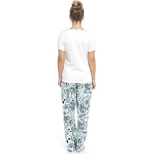 Foxbury Damen Schlafanzug Mint