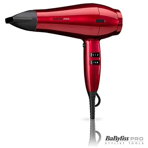 BaByliss Pro Special Edition Tourmaline Ceramic Ionic Hair Dryer 6 Heat Speeds 2100W BAB6738RU - Red - 41 2BfebNb9EL - BaByliss Pro Special Edition Tourmaline Ceramic Ionic Hair Dryer 6 Heat Speeds 2100W BAB6738RU – Red