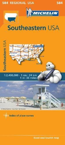 Mapa Regional Southeastern USA (Carte regionali) por Michelin
