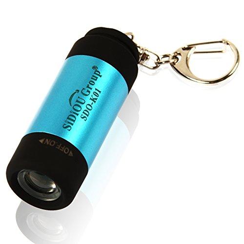 Sidiou Group Mini LED torcia elettrica USB torcia elettrica ricaricabile torcia elettrica impermeabile all'aperto Luce della luna torcia elettrica di portachiavi