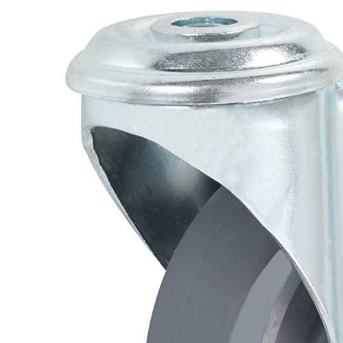 41%2Bff9Yh9RL - vidaXL 4x Ruedas Giratorias Agujero Pasador Accesorios Almacén Industria Manipulación Materiales Resistentes Superficie Suave Robustas Diametro 100mm