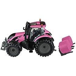 TOMY BRITAINS - Véhicule de Collection, Tracteur VALTRA pour Adultes 43247, Tracteur Agricole, Modèle à l'Echelle 1/32, Réplique Adaptée aux Enfants de 3 ans+, Rose