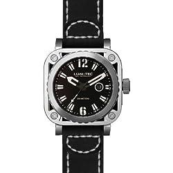 LUM-TEC G2 Black/Silver Skeleton Men's Watch