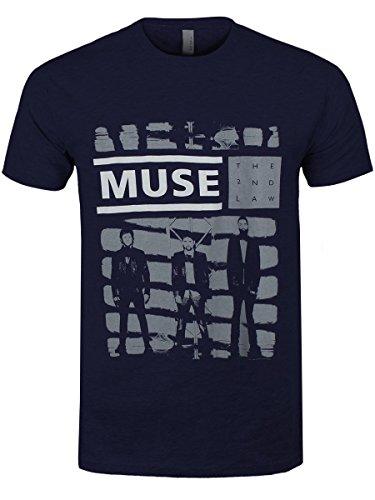 Muse T-Shirt One Shade Of Grey Mens da uomo in blu