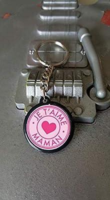 Porte clés 25 mm Je t'aime Maman