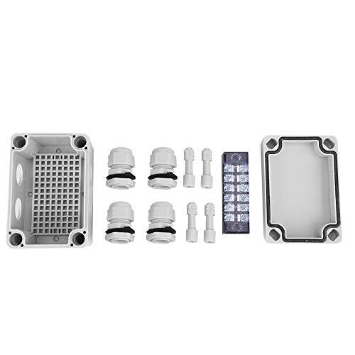 Caredy Anschlusskasten, ABS Kunststoff wasserdicht IP65 Projekt Gehäuse Elektrokasten wasserdicht Anschlusskasten Kabelanschluss Anschlusskasten Kunststoffgehäuse(65 x 95 x 55 mm)