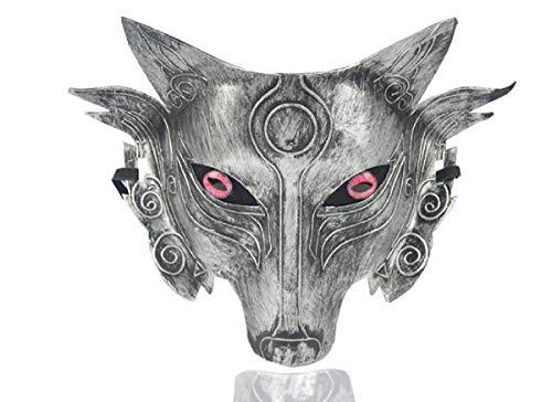 Machen Wolf Kostüm Ein Sie - Star Cosplay Wolf Kostüm Maske Full Face Maskerade Maske für Männer Frauen Halloween Party Spiel Dekoration (Silver 2)