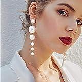 DGHBM Damen Weiß Süßwasserperlen Perlen Ohrringe Damen Stilvoll Elegante Alltagsschmuck Weiß Für Hochzeit Geburtstag Abend Party