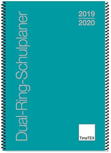 TimeTex Dual-Ring-Schulplaner A5 - türkis - Schuljahr 2019-2020 - Lehrerkalender - Lehrertimer - 10555 - Ring Timer