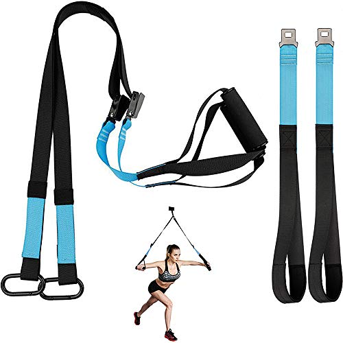 KEAFOLS Sangle de Suspension D'exercice de Suspension Sangle Fitness Kit pour Musculation Multifonction Kit Entraînement Stretch chez Home Gym