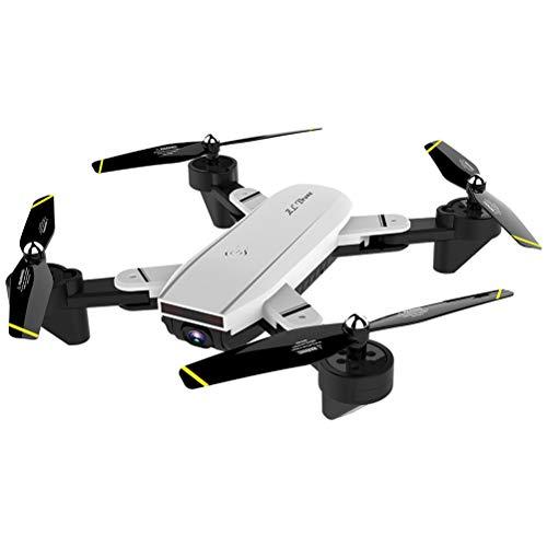 YANGSANJIN Drone avec Camera Mini Piste Atterrissage Batterie 10 Ans Professionnel Enfant Pas Cher 4k 1080P GPS Pliable Rc Drone Micro Full HD Stabilisé, White