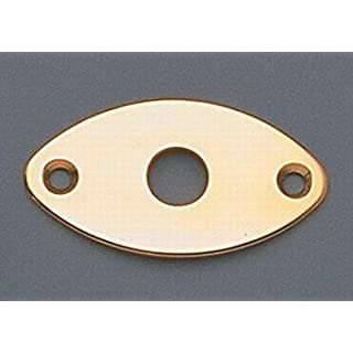 Jackplate for Edge Mount Football Shaped Gold w/Screws Allparts AP-0615-002