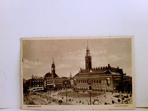 AK Kobenhavn. Raadhuset. (Kopenhagen, Rathausplatz). Gebäudeansicht, Partie am Rathausplatz, Auto, Passanten, Geschäfte