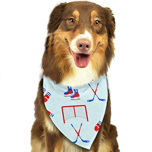 Gxdchfj Ice Hockey Pattern Fashion Dog Bandanas Bibs Scarf Pet Dog Cat Dog Scarf - Schal-kragen-kabel