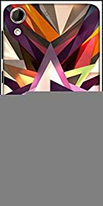 Snoogg Star Shreds 2702 Designer Protective Back Case Cover For HTC Desire 728