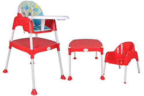 Ole Baby Anti Skid 3 in 1 Multipurpose Convertible Dinning cum Study Table High Chair WITH CUSHION 0-7 years