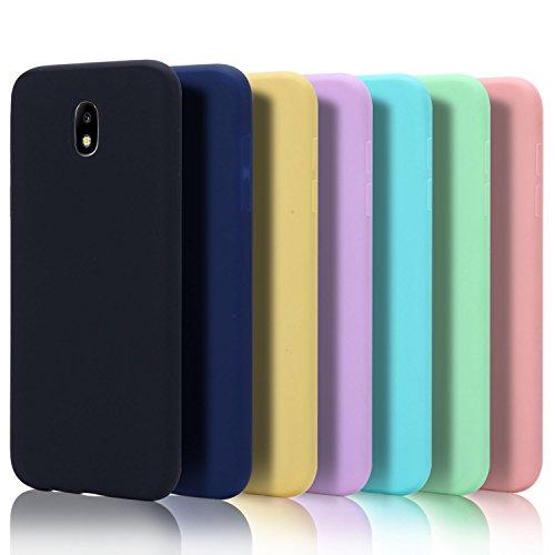 7x Custodia per Samsung J7 2017 Cover, Moevn Ultra Slim Morbido in TPU Silicone Posteriore Case per Samsung Galaxy J7 2017 Smartphone Opaco Gel Flessibile Sottile Protezione Bumper (Sette colori)