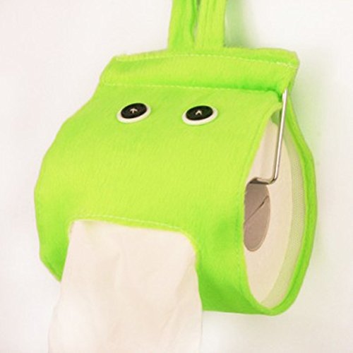 Ainstsk Toilettenpapierhalter, faltbar, zum Aufhängen, für Badezimmer, Büro, Auto, Restaurant, grün, Free Size