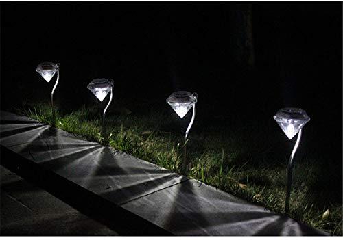 (KEZIO LED Lichter Gartenleuchten Farbwechsel Solar Garden Stake Lights für Gartenweg Gehweg Terrasse Rasen Hof Weihnachten Halloween Dekorationen im Freien, 4 Pack (Farbe : White-6pack))