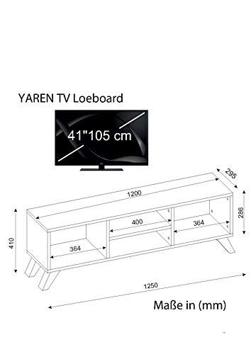 Wohnwand Lowboard Anbauwand Wohnwandkombi TV Medienwand YAREN in Weiß 1728 - 4