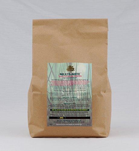 Multi-Mite® 2KG DIATOMACEOUS EARTH Feed Red Mite Supplement DE Powder SPECIAL GRADE DE 1