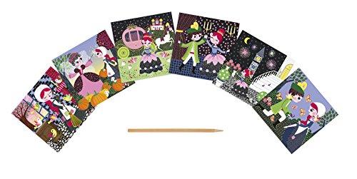 Janod - J07770 - Cartes à Gratter Princesses - Cendrillon