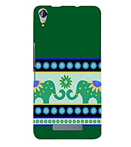 Fiobs indian ethinic art Designer Back Case Cover for Micromax Canvas Juice 3 Q392