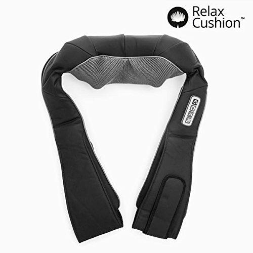 Hangsun Shiatsu Massaggio Cervicale Schiena Spalle MG600 Massaggiatore Elettrico con Riscaldamento a infrarossi + Alimentatore da auto + 3 livelli di velocità Impostazione + 8 rulli di massaggio
