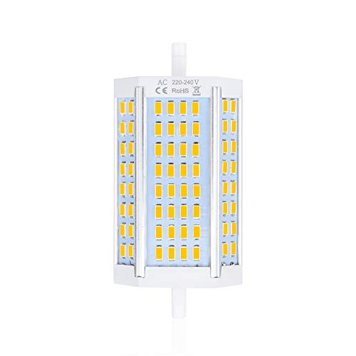 Bonlux 30W R7S LED Lampe 220V Dimmbar 118MM Double Ended Leuchtmittel Warmweiß 3000K Flutlicht Ersatz zu 300-360W Halogenlampe Stehlicht Maisbirne für Arbeitslicht(1 Stück) - Standard Stehlampe Deckenfluter Ist