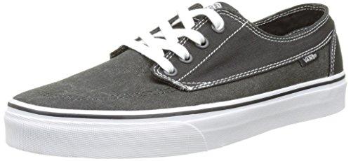 Vans Ua Brigata, Sneakers Basses Homme Noir (Washed Canvas Pirate Black/white)