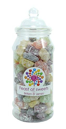 JELLY BABIES 650g+. Feast of Sweets Jar by Britten & James®. Dulces británicos tradicionales en un frasco reutilizable de plástico de 970 ml. Un regalo perfecto para Navidad, cumpleaños, padre, madre, abuela, abuelo, bodas y fiestas.