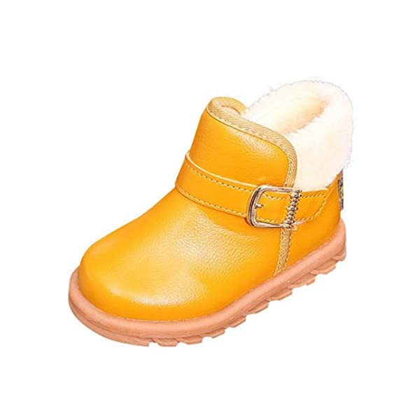Kids Winter Snow Boots,Voberry New Autumn Winter Keep Warm Fashion Children Thickening Boys Girls Snow Anti-slip Shoes For 1-6 Years Old
