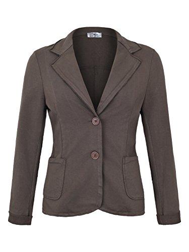 Damen Blazer Vintage Style (611), Farbe:Braun, Blazer 1:44 / XXL