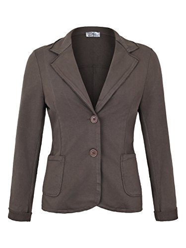 Damen Blazer Vintage Style ( 611 ), Farbe:Braun, Blazer 1:44 / XXL (Elegant-blazer)