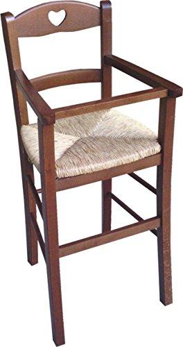 seggiolone sediolone bimbo c/protezione noce seduta paglia