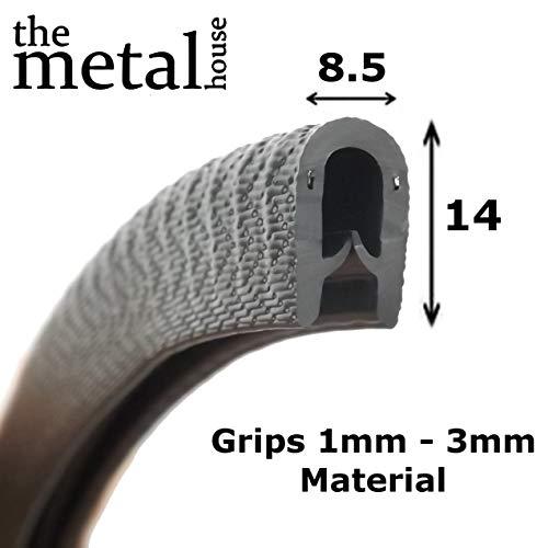 Standard noir à bordure de protection en caoutchouc 14 mm x 8.5 mm