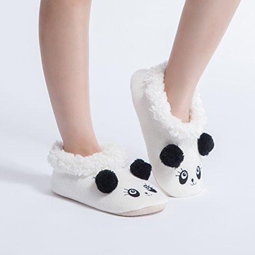 Pantofole Da Donna Signore Pantofole Calde Invernali Signore Peluche Divertente Peluche Pantofole Signore Panda