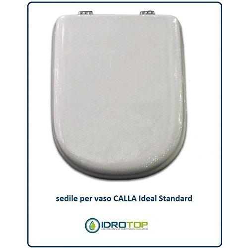 ACB/COLBAM Copriwater in Legno Rivestito di Poliestere per Ideal Standard CALLA BIANCO I.S. Cerniera Oro-Sedile-Asse Wc