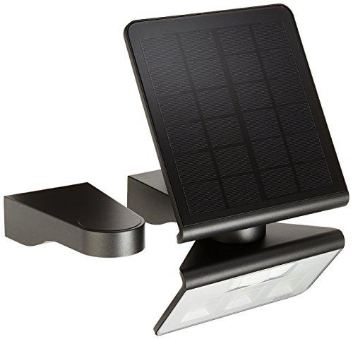 Steinel Solar-Wandleuchte XSolar L-S anthrazit, 140° Bewegungsmelder, 8 m Reichweite, für Garten, Terrasse und Hauswand