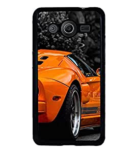 Fuson Designer Back Case Cover for Samsung Galaxy Core I8260 :: Samsung Galaxy Core Duos I8262 (Car Sports Car Orange car Stunning Car Stunning Sports Car)