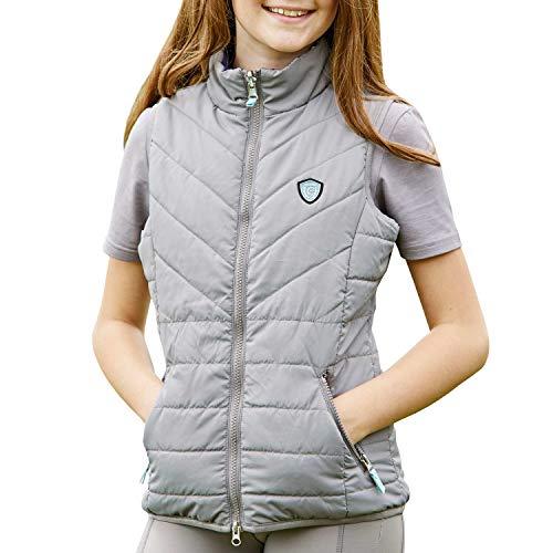 Covalliero Kinder Wendeweste Mila Dark Grey 140/146